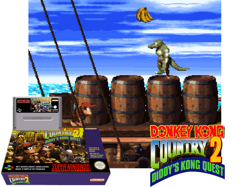 Donkey Kong Country 2 - Diddy's Kong Quest (E) (V1.1) [!], 4 images mix