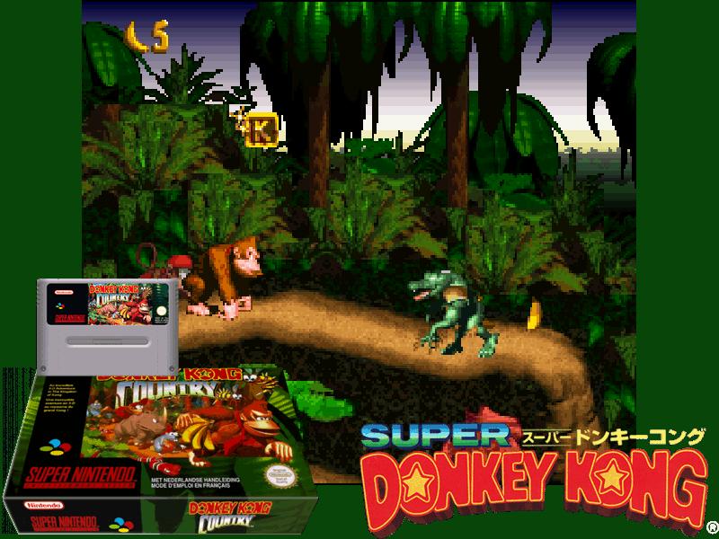 Donkey Kong Country (E) (V1.0) [!], 4 images mix