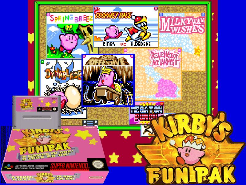 Kirby's Fun Pak (E) [!], 4 images mix