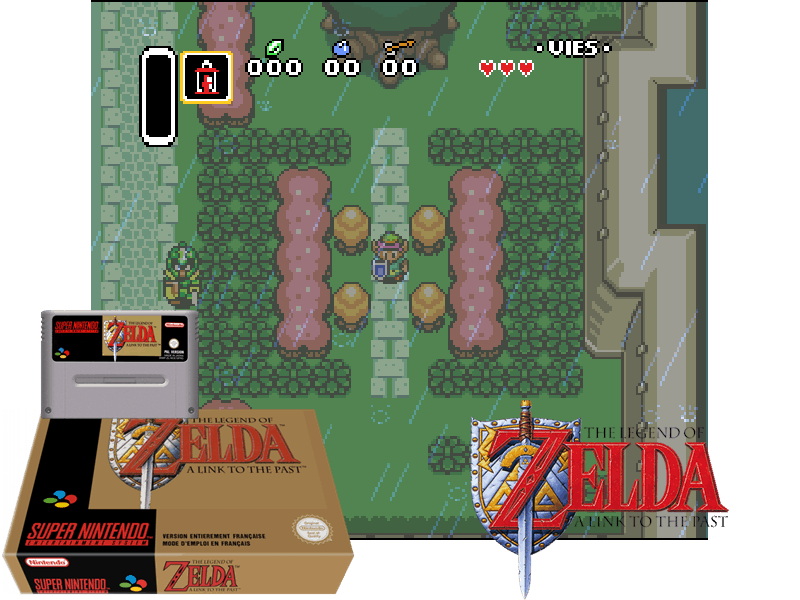 Legend of Zelda, The - A Link to the Past (E) [!], 4 images mix