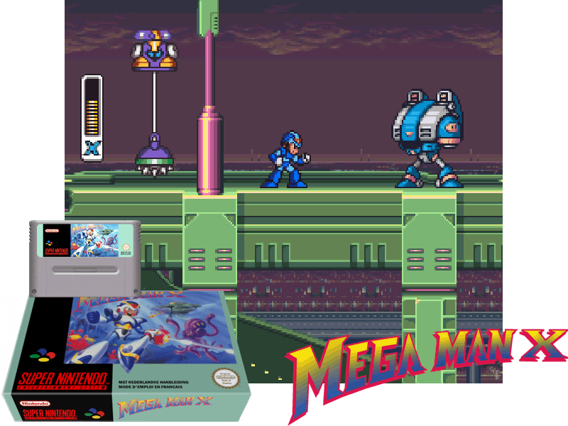 Mega Man X (E), 4 images mix
