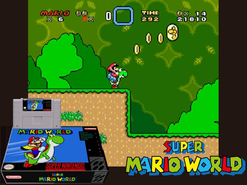 Super Mario World (U) [!], 4 images mix
