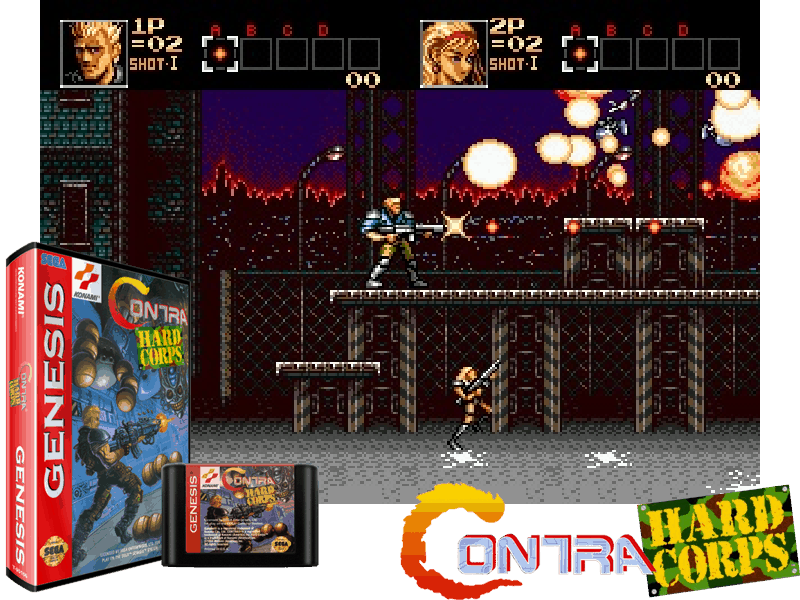 Contra - Hard Corps (U) [!], 4 images mix