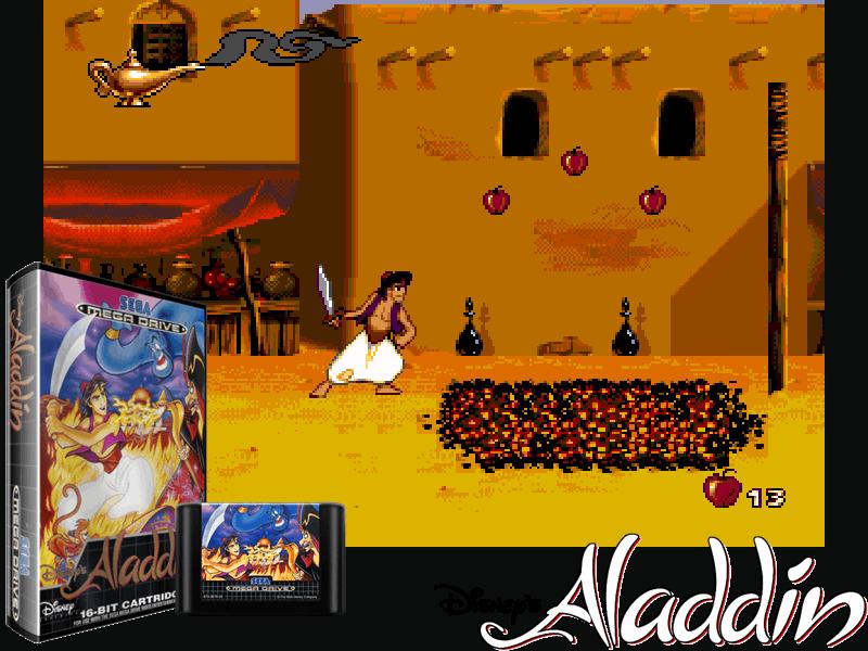 Disney's Aladdin (E) [!], 4 images mix