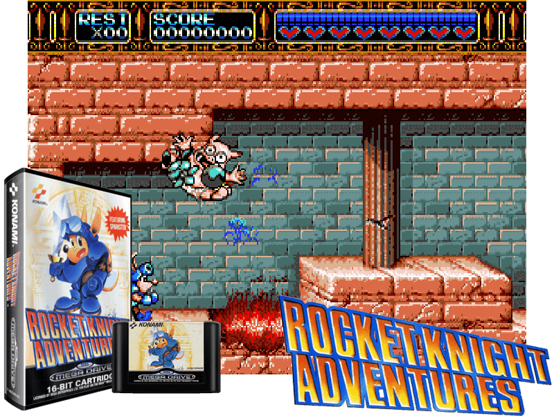 Rocket Knight Adventures (E) [!], 4 images mix