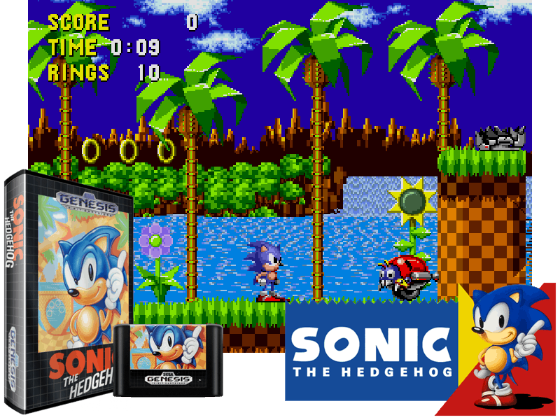 Sonic The Hedgehog (W) (REV00) [!], 4 images mix